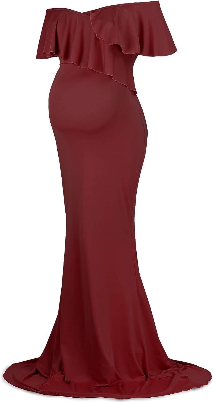 Dance Fairy Molliya Maternity Long Dress Women Ruffle Stretchy Sleeveless Maxi Dress at  Women's Clothing store