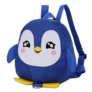 Upstudio Mochila multifunción Mochila de Juguete de la guardería de la Historieta del pingüino de Escuela de los niños (Azul): Amazon.es: Juguetes y juegos