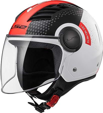Amazon.es: LS2 Casco Moto of562 Airflow Condor, blanco/negro/rojo, XS