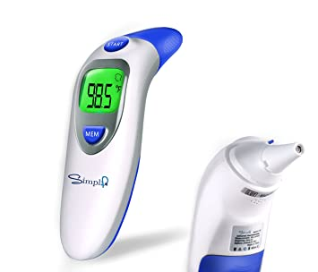 amazon com simplife digital infrared forehead ear thermometers