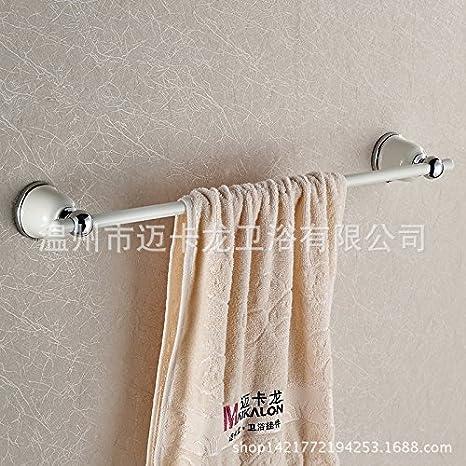 SYDLJ Un idílico baño pintadas de blanco a la parrilla metálica continental colgador de toallas de baño toallero de palanca única toallero: Amazon.es: Hogar
