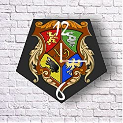 Harry Potter 11.8'' Original Handmade Wall Clock - Get unique décor for home or office – Best gift ideas for kids, friends, parents and your soul mates