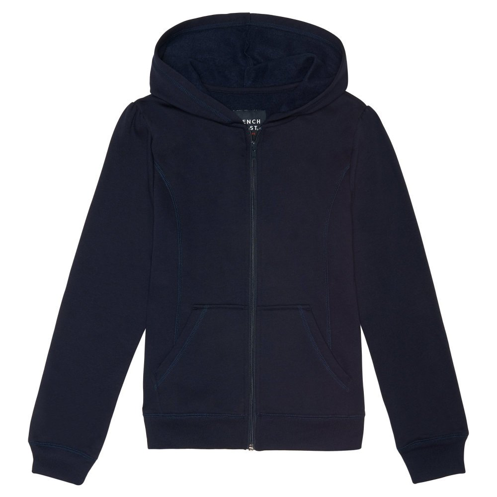 French Toast Girls' Big Fleece Hoodie, Navy, L (10/12) by French Toast