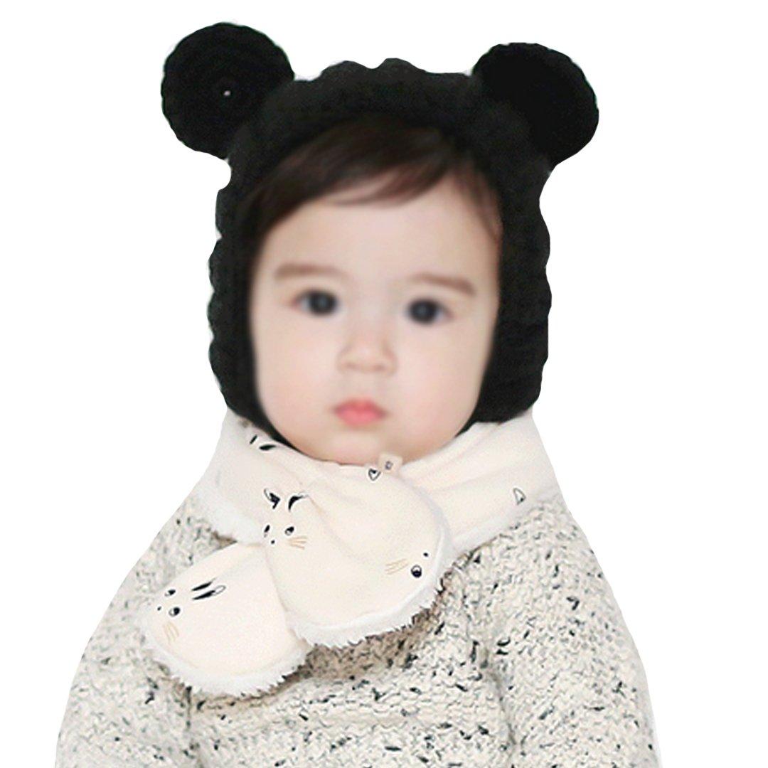 Monique Unisex Kids Cute Plush Scarf Collar Boys Girls Autumn Winter Thick Warm Scarves Wraps Mufflers White