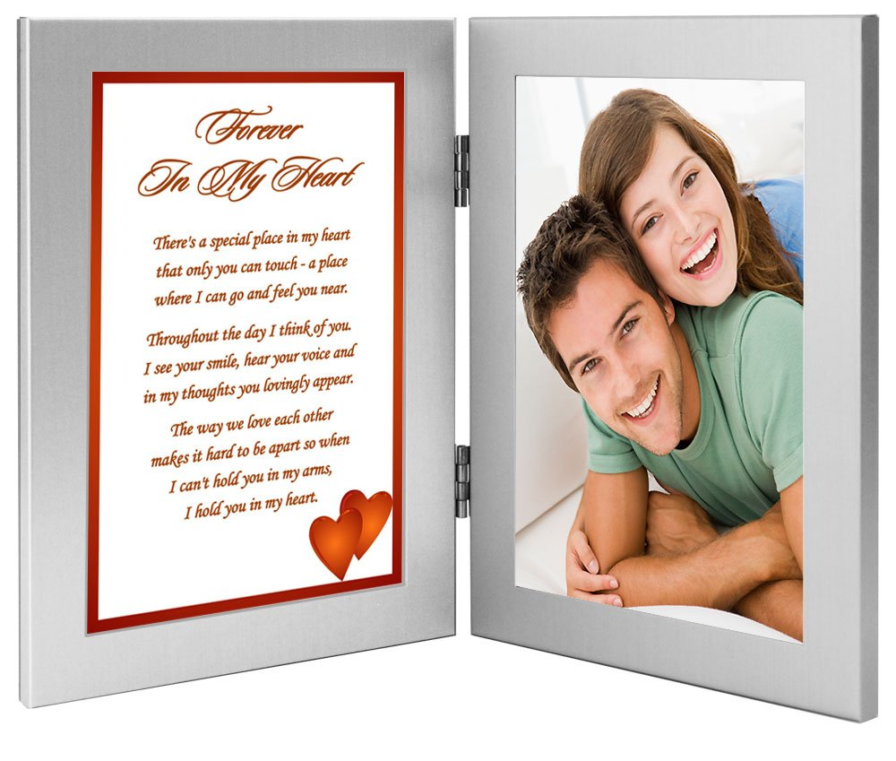 ''Forever In My Heart'' Romantic Gift for Wife, Husband, Girlfriend, or Boyfriend, Birthday, Christmas or Anniversary - Add Photo by Poetry Gifts (Image #1)