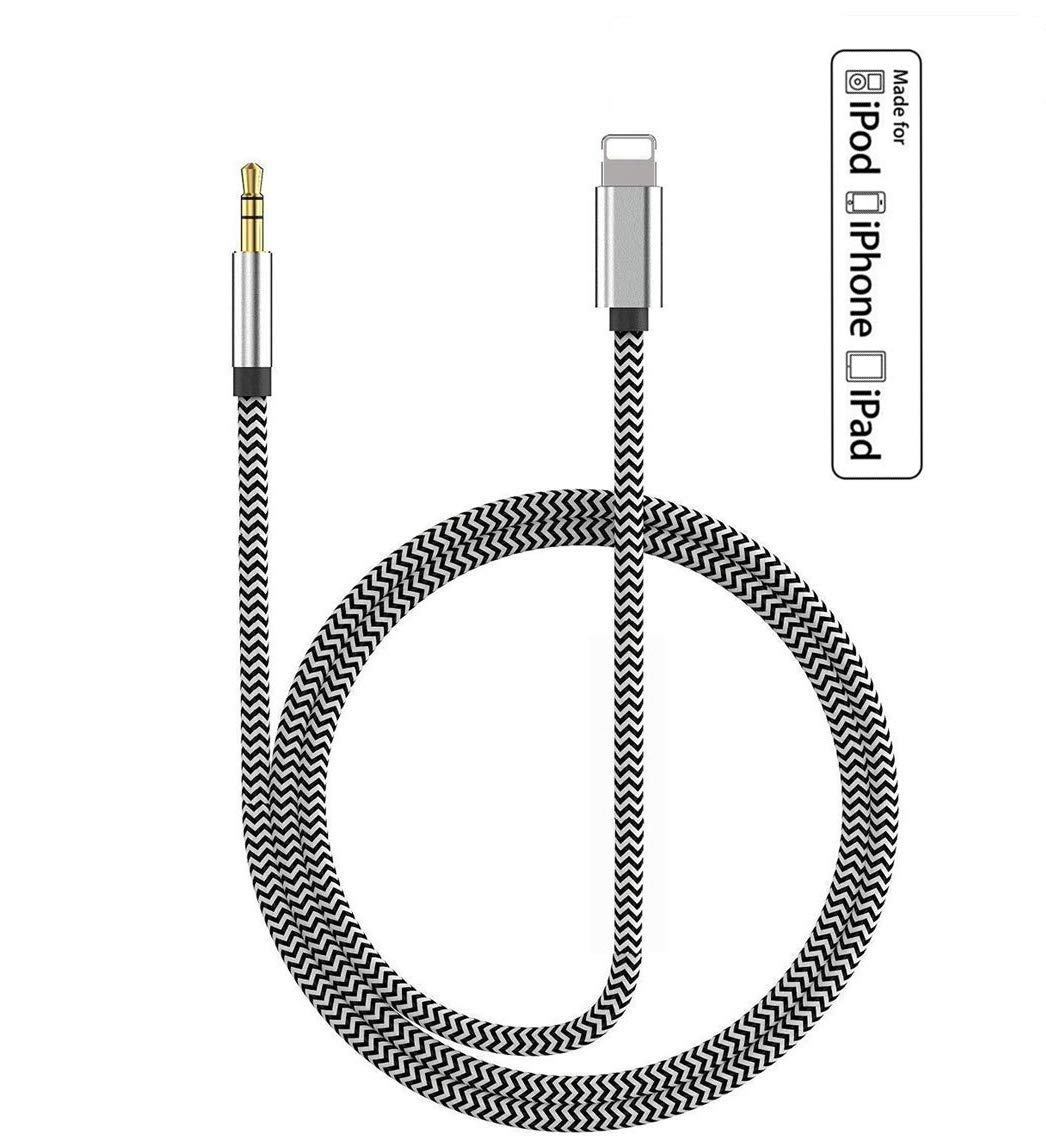8//8 Plus// 7//7 Plus//XS Max//XR,3.5mm Male Stereo Audio Cable Car Aux Cable Supports iOS 11 or Later for Car//Home Stereo or Headphones Aux Cord Compatible with iPhone X