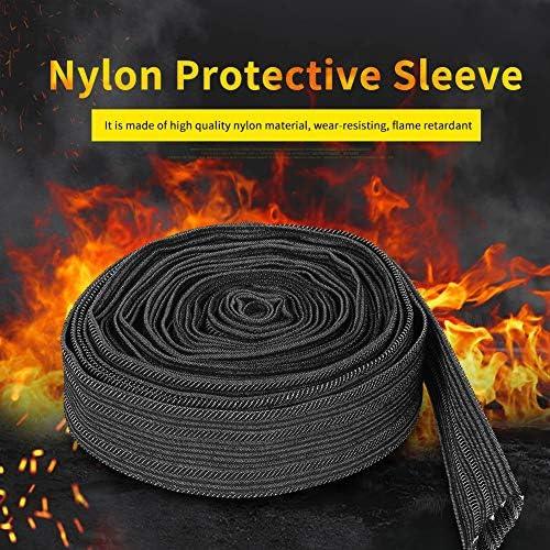 287 Nylon PROTECTVE Hydraulic Hose Sleeve NPS Hose Guard 2.87 I.D//4.65 Flat