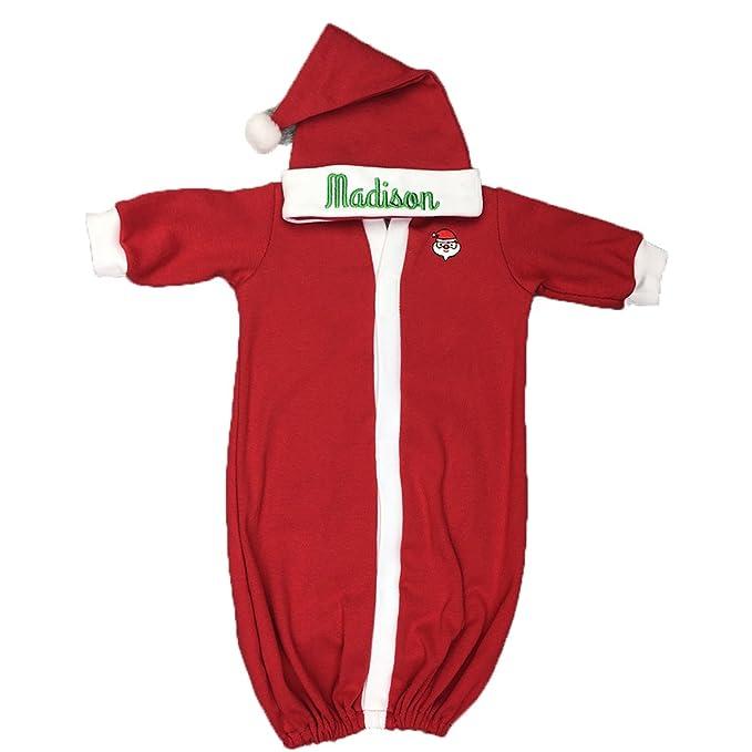 Amazon.com: Personalizable de bebé Navidad atuendo, recién ...