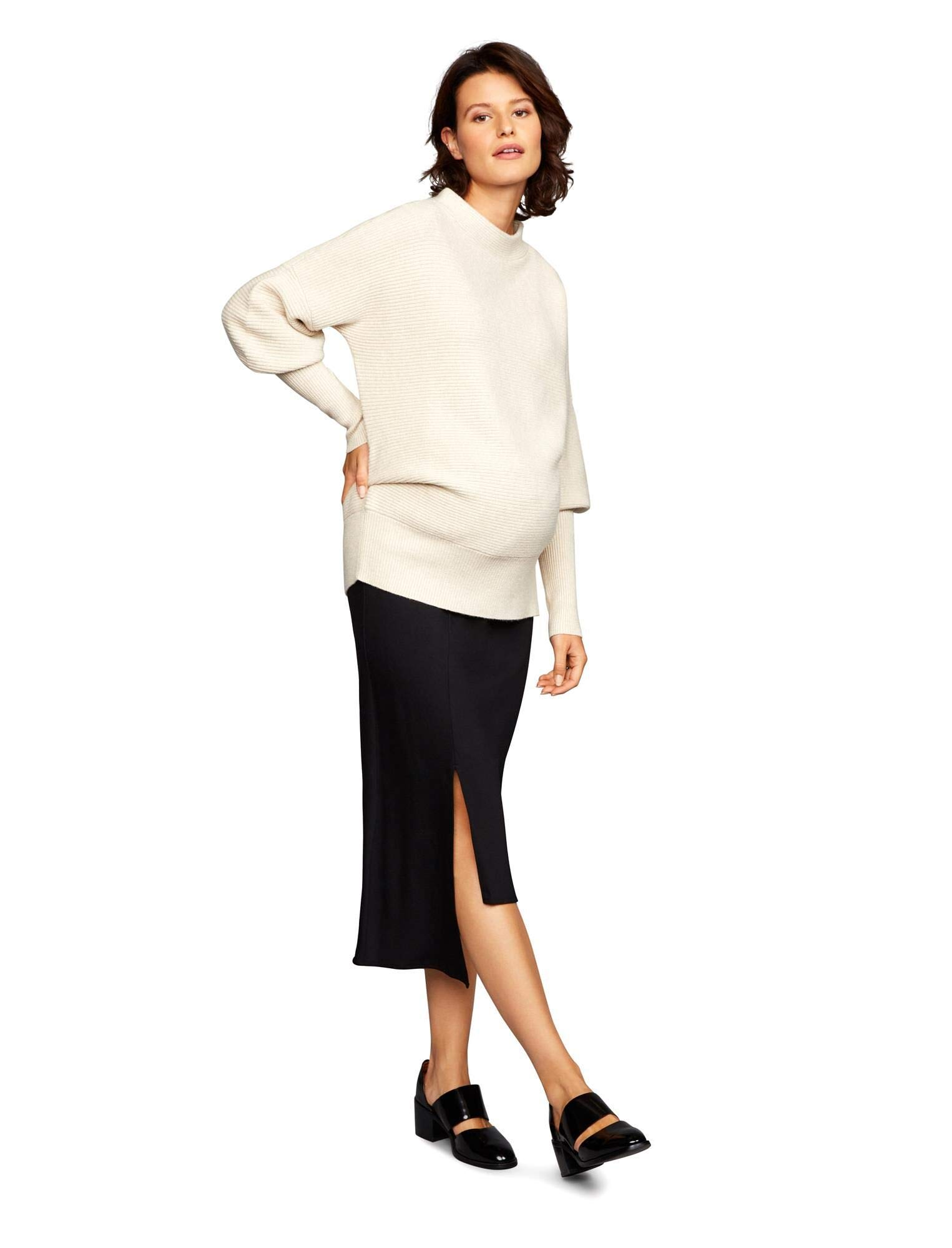 A Pea in the Pod Classic/Full Belly Cascade Maternity Skirt Black by A Pea in the Pod