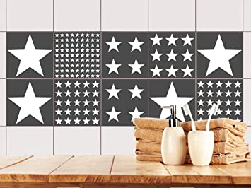 Fliesenaufkleber Küche modern - Fliesenbilder selbstklebend Sterne ...