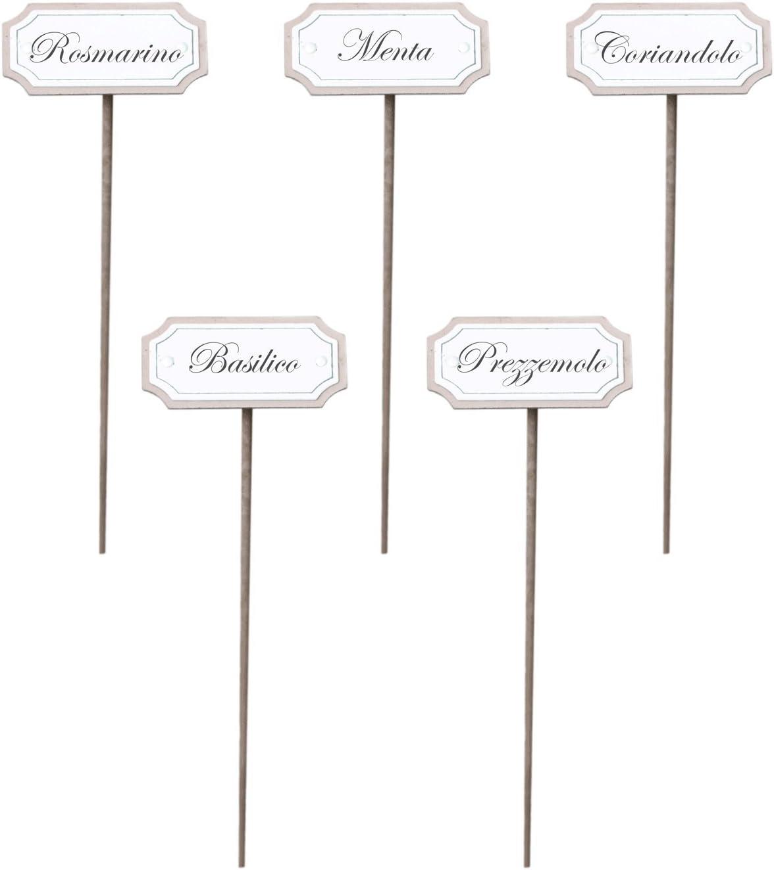 10 letreros de metal para las hierbas aromáticas / el jardín ...