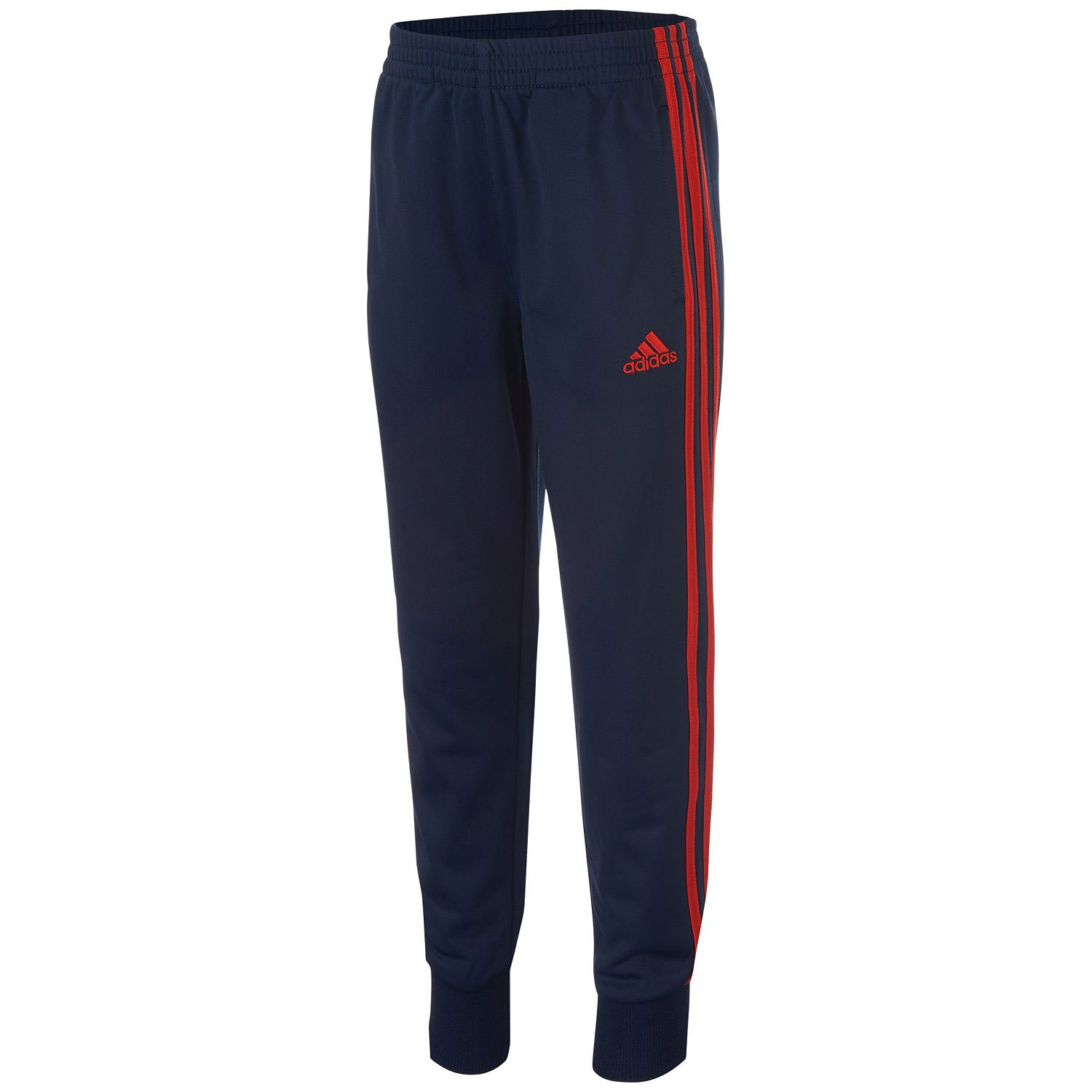 adidas Little Boys' Tricot Jogger Pant (6) Red by adidas