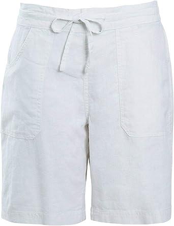 Ladies Linen Shorts Summer Womens Short Trousers Holidays Viscose Tie  Drawstring Size UK 10 12 14 16 18 20 22 24 White: Amazon.co.uk: Clothing