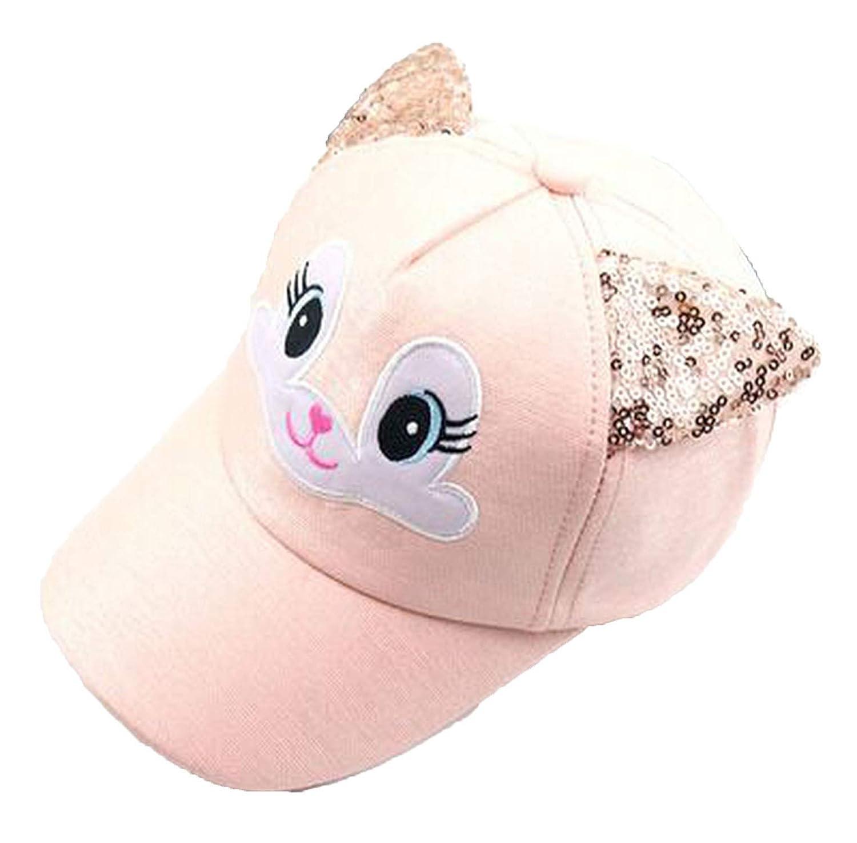 Children Baseball Cap Girls Snapback Hip Hop Caps Cat Ear Kids Sun Hat Spring Summer