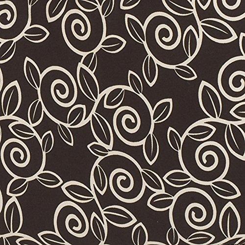 Raspberry Dot (Cotton Tale Designs Raspberry Dot Paisley Fabric, Black Background Ivory)