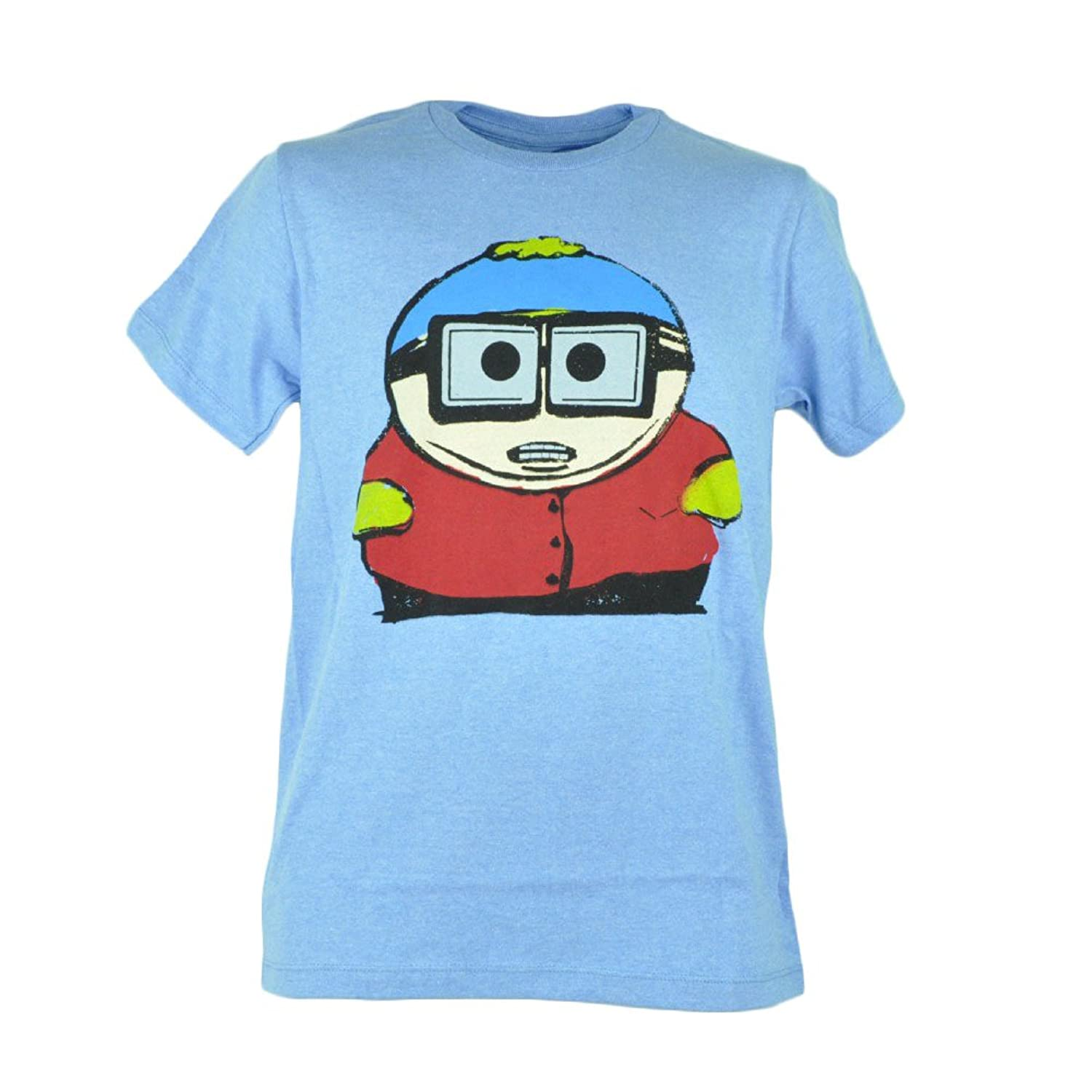 South Park Eric Cartman Distressed Character Tee Graphic Mens Tshirt Blue