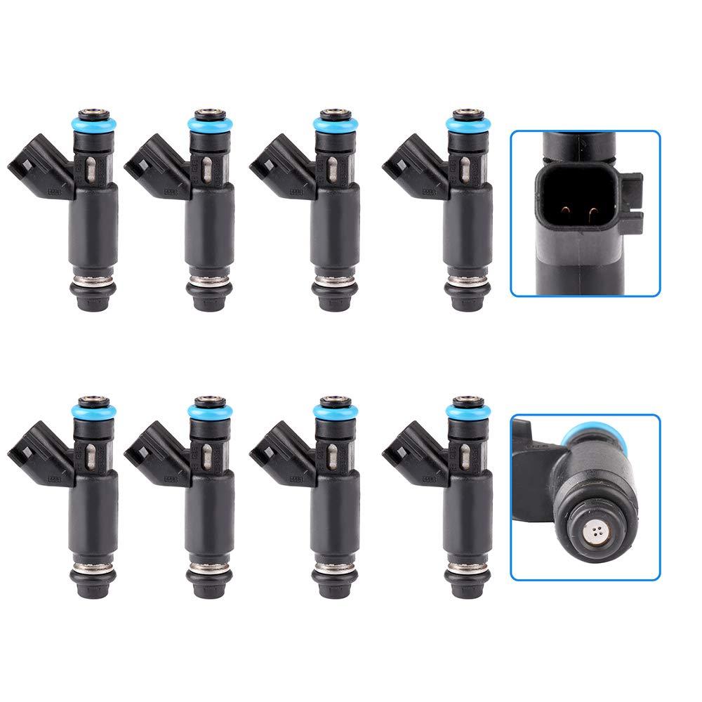 4 Holes Fuel Injector Set fit for Chevrolet Avalanche Express Silverado Suburban 1500//Silverado 1500 Classic//Tahoe,GMC Savana Sierra 1500//Yukon//Yukon XL 1500 12580426,8 Pieces cciyu Injectors