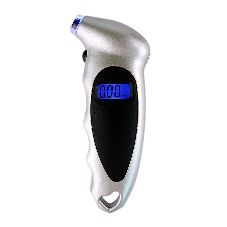 CiCiCat Tyre Pressure Gauge Checker with LED Display 150 PSI, 4 Measurement Units Digital Tyre Air Pressure Gauge Tester Tool, High-Precision Tire Manometer, Best for Car, Motorcycle, Bike, Van, Lorry, Truck, Tractor. (Pressure Gauge, Black)