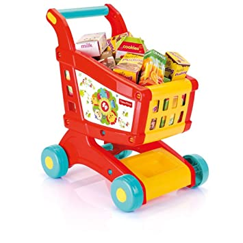 Uwant Fashion Household Fisher Price - Carrito de Compra con Papel, Juguete plástico Frutas Alimentos Divertido: Amazon.es: Hogar