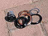 Flyxii Alloy Mountain Road Bike Tapered Integrated Headset 1 1/8'' 1 1/2'' Threadless Headset