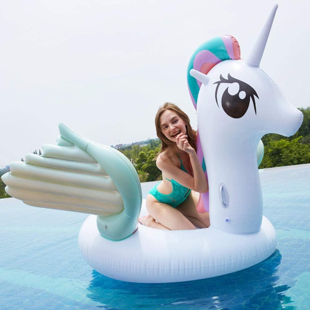 Svvsgf Juguetes acuáticos para Piscina, PVC Colorido ala Inflable Fila Flotante ala voladora Pony Mount Anillo de natación al por Mayor