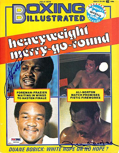 Joe Frazier and Ken Norton Signed Magazine Cover - PSA/DNA Authentication - Boxing Memorabilia ()