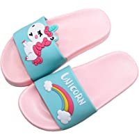 Kids Unicorn Slide Sandals Lightweight Summer Beach Water Shoes Boys Girls Shower Pool Slippers(Toddler/Little Kids)