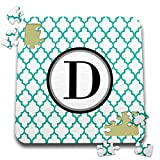 BrooklynMeme Designs - Mint green pattern monogram initial D - 10x10 Inch Puzzle (pzl_252251_2)