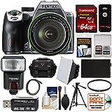 Pentax K-70 All Weather Wi-Fi Digital SLR Camera & 18-135mm WR Lens (Silver) with 64GB Card + Case + Flash + Battery + Tripod + Filter + Kit