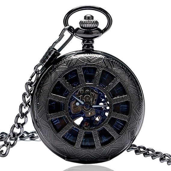 Relojes de Bolsillo para Hombre, Retro Roma, Reloj de Bolsillo mecánico Digital, Regalo