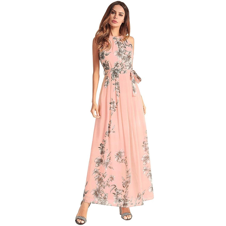 c3ac2afa7 on sale antaina Floral Mangas de la Impresión Cóctel Vestido de Noche Largo  de la Gasa