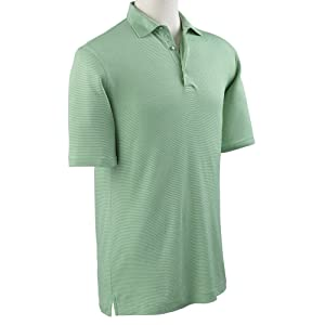 Bobby Jones Supreme Nine Stripe Tailored Fit Pima Cotton Golf Polo 2016 Key Lime Small