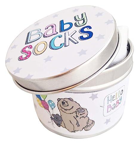 Oso Camarón bebé recién nacido Unisex calcetines de crema en lata ...