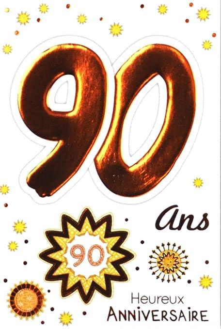 Age Mv 69 2044 Carte Anniversaire 90 Ans Homme Femme Motif