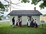16 x 24 Art Canvas Wrapped Frame Giclee Print of People traditional Norwegian clothing gather gather outside an 1879 Norwegian parochial school building at Vesterheim the Norwegian 2016 Highsmith 10a