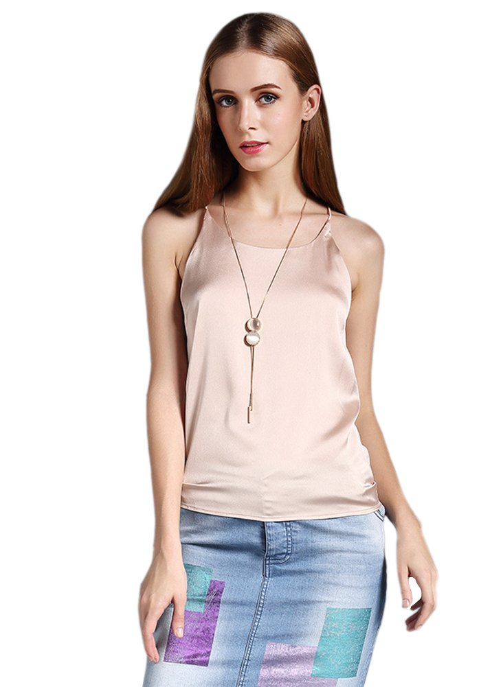 Colyanda Women's Tank Top Silky Loose Camisole Shirt in Many Colors(Apricot,3XL)