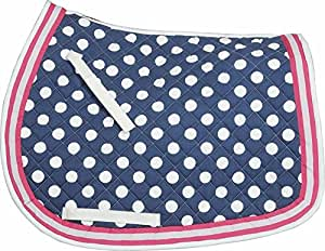 Equine Couture Emma Saddle Pad Navy/Pink