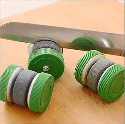 Amazon.com: Mini Sacapuntas de cuchillo redondo muelas ...