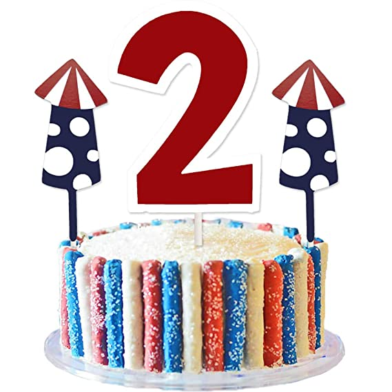 Prime Usa Patriotic Two Cake Topper 4Th Of July American Independence Funny Birthday Cards Online Alyptdamsfinfo