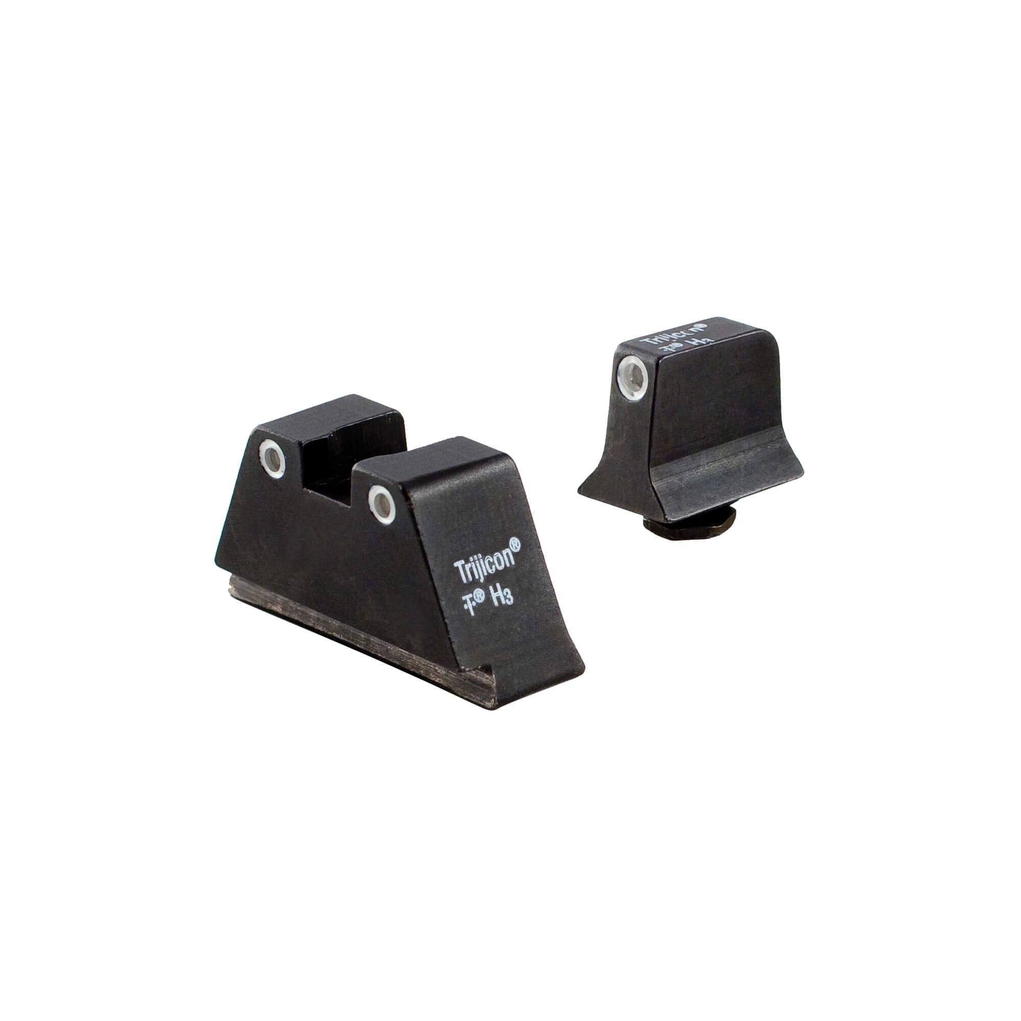 Trijicon Suppressor White Outline Night Sight Set with Green Lamps for Glock Models