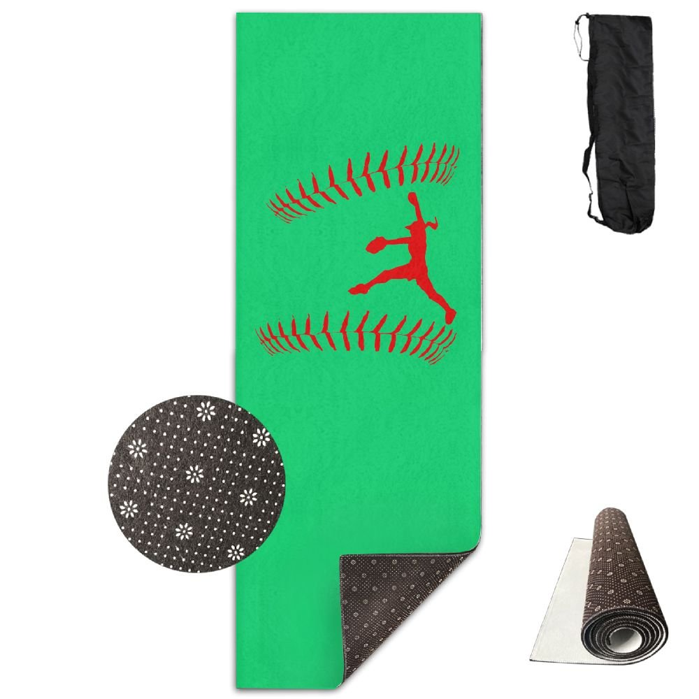 Amazon.com : QNKUqz I Play Softball Deluxe Yoga Mat Aerobic Exercise Pilates : Sports & Outdoors