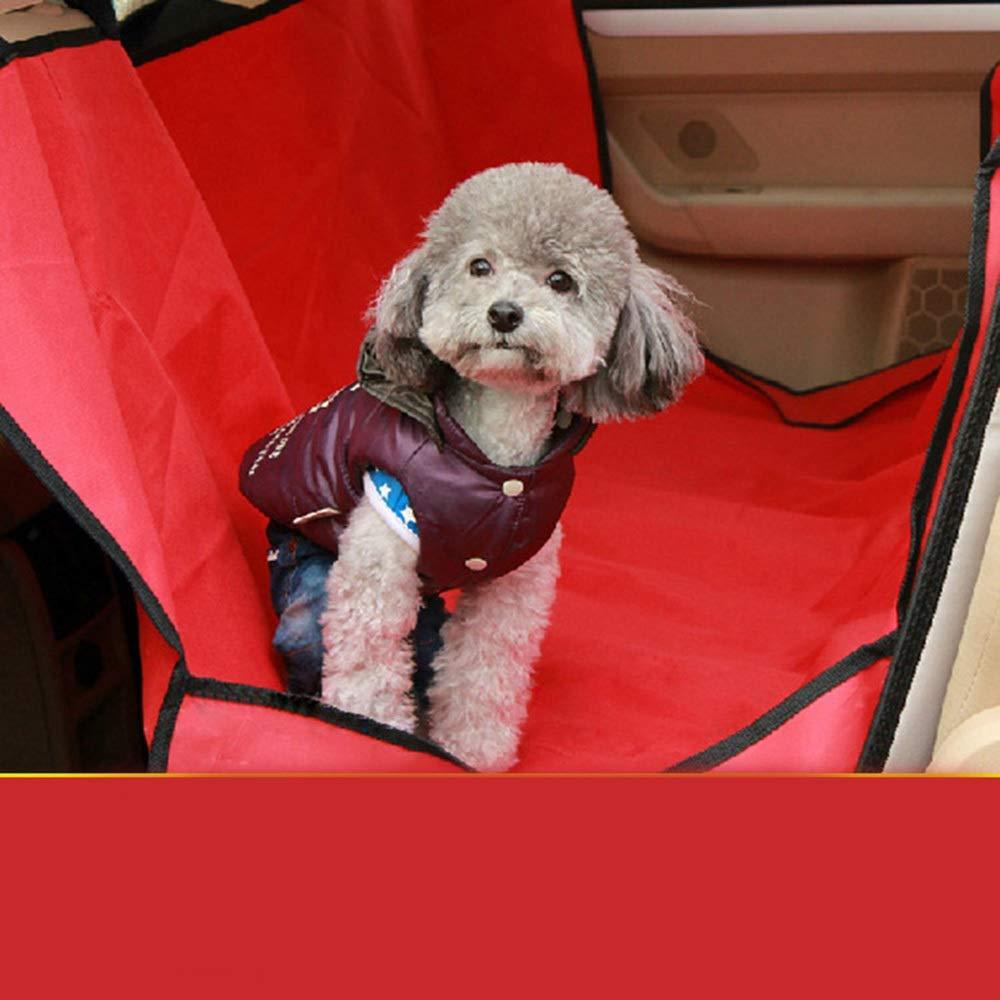 Red 134cm133cm Red 134cm133cm MISSKERVINFENDRIYUN Pet Car Mat Car Mat Rear Seat Oxford Cloth Mat Waterproof Anti-fouling Car Mat (color   Red, Size   134cm133cm)