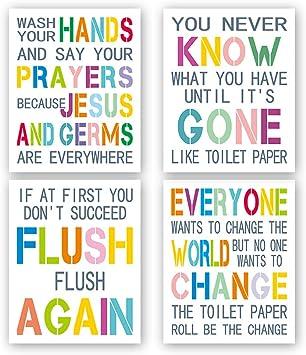 Bathroom Wall Art Unframed Bathroom Decor Bathroom Gifts Home D/écor Bathroom Wall Prints Funny Bathroom Signs 8 x 10 Splish Splash Bathroom Prints