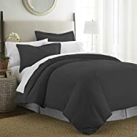 Beckham Hotel Collection Luxury Soft Brushed 1800 Series Microfiber Duvet Cover Set - Hypoallergenic
