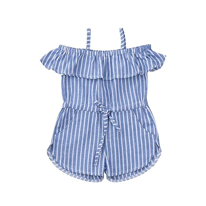 262100b847247 Amazon.com: New Baby Playsuit Clothes Set, Infant Baby Girls Stripes ...