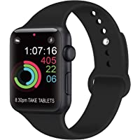 AK Compatible Apple Watch Correa 42mm 38mm 44mm 40mm, Silicona Blanda Deporte de Reemplazo Correas Compatible iWatch Series 4, Series 3, Series 2, Series 1 S/M M/L