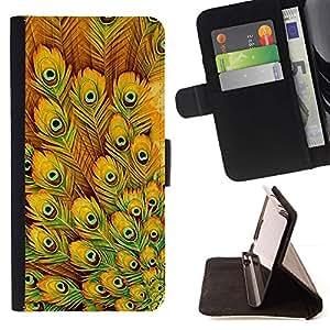 Yellow Bird Eye modello - Modelo colorido cuero de la carpeta del tirón del caso cubierta piel Holster Funda protecció Para Apple iPhone 5 / iPhone 5S