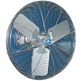 Schaefer Ventilation 20CFO-SWDS Washdown Duty Fan, Stainless Steel Motor and OSHA Guards with Blade, 20''