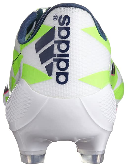 56bc23b38bb F50 adizero TRX FG Football Boots Core White Rich Blue Solar Green - size  11  Amazon.co.uk  Shoes   Bags