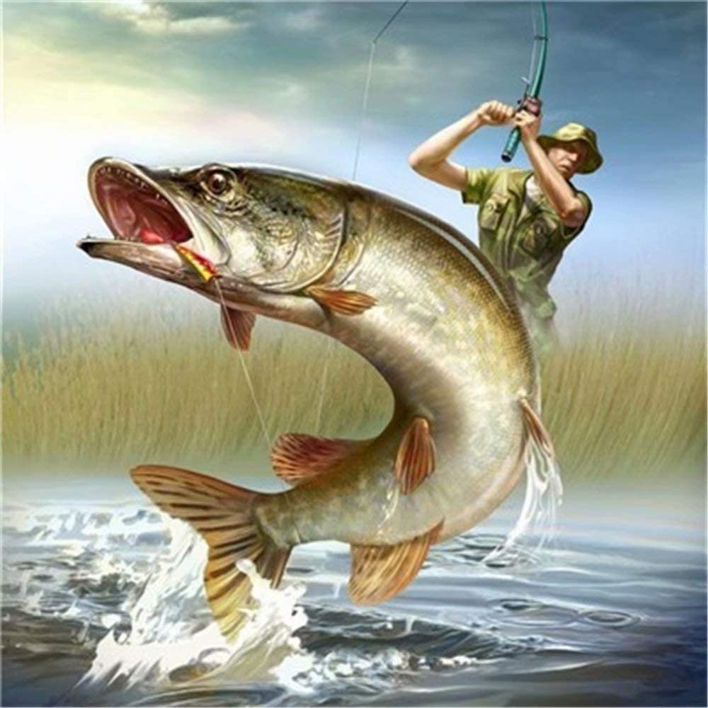 DIY Paint By Number Kits Father and son fishing 16x20 inch Frameless